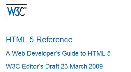 HTML5 от W3C