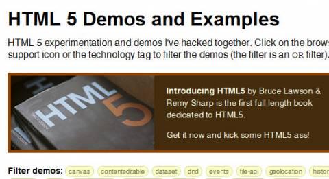 Демо использования HTML5